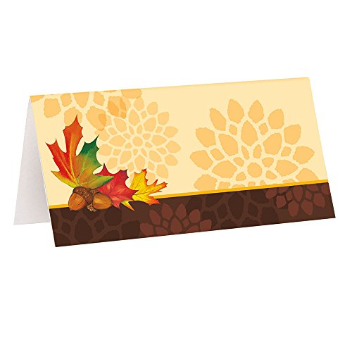 Fall Leaves Place Cards, 16ct (Mardi Gras Table Arrangements)