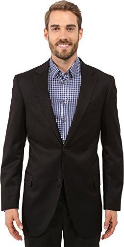 Dockers Men's Suit Separate Coat, Black Solid Herringbone, 42 Long