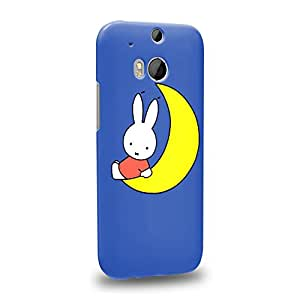 Case88 Premium Designs Miffy Storybook Collections 1328 Protective Snap-on Hard Back Case Cover for HTC One M8