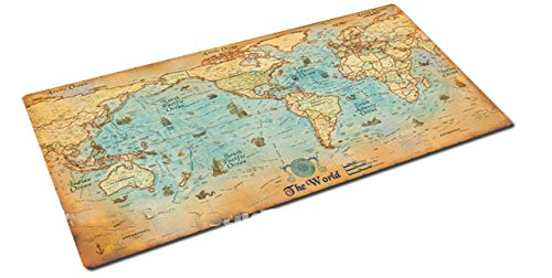Ruimeng vintage nautical style map of the world writing pad desk mat ruimeng vintage nautical style map of the world writing pad desk mat 472x236 amazon office products gumiabroncs Images