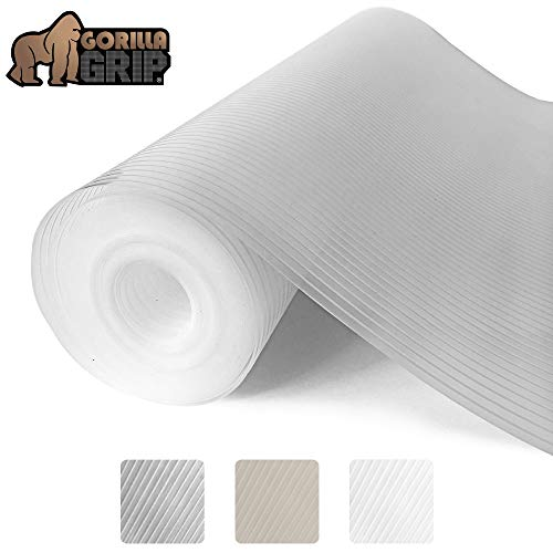 Gorilla Grip Ribbed Top Drawer and Shelf Liner, Non Adhesive Roll, 17.5 Inch x 20 FT, Durable and Strong, Grip Liners for Drawers, Shelves, Kitchen Cabinets, Storage, Kitchens and Desks, Clear Ribbed (Best Kitchen Drawer Liner)