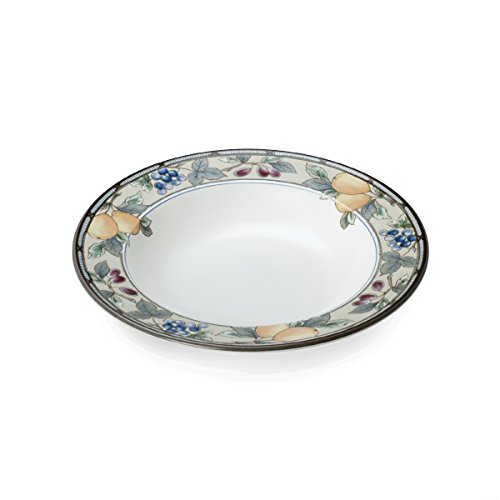 Mikasa Garden Harvest Soup Bowl, (Small Rim Soup Plate)