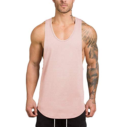Men's Gym Tank Tops Workout Muscle Tee Training Bodybuilding Fitness Sleeveless T Shirts KLGDA