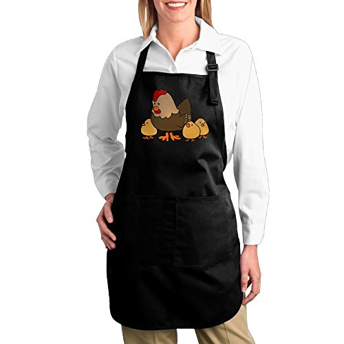 Fat Girl Costume Walmart (Dogquxio The Chicken Mother And Its Children Kitchen Helper Professional Bib Apron With 2 Pockets For Women Men Adults Black)