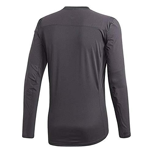 adidas Sport Performance Men's Terrex Agravic Hybrid Long Sleeve Shirt, Carbon, Black, M