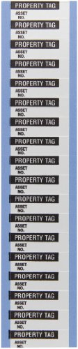 Brady WOAF-29-VP Aluminum Foil Tape Inventory Control Labels , Black On Silver,  1.500