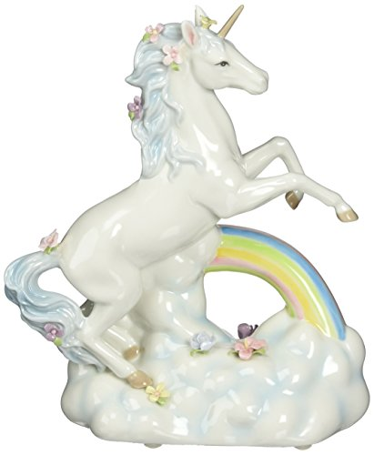 Cosmos Gifts 80118 Unicorn Over The Rainbow Ceramic Figurine, 8-1/8-Inch
