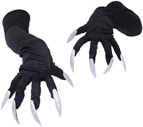 [해외]Halloween Witch Gloves Novelty Long Pointed Finger Gloves Halloween Masquerade Costume Cosplay Party Prop Witch Ghost Fake Claws / Halloween Witch Gloves Novelty Long Pointed Finger Gloves Halloween Masquerade Costume Cosplay Party...