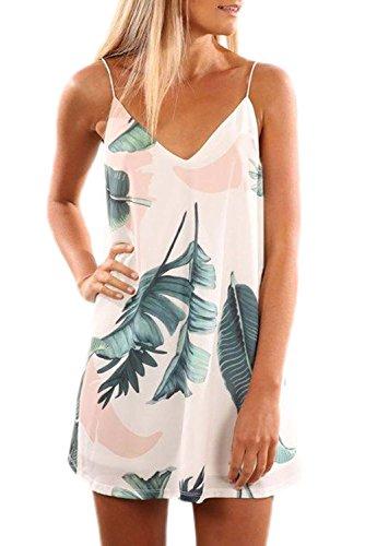 Angerella V Neck Summer Dresses for Women Sleeveless Slip Mi
