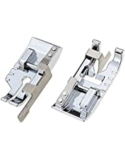 Pack of Stitch in Ditch Foot and 1/4''(Quarter Inch) Quilting Patchwork Sewing Machine Presser Foot with Edge Guide for All Low Shank Snap-On Singer, Brother, Babylock, Euro-Pro, Janome…