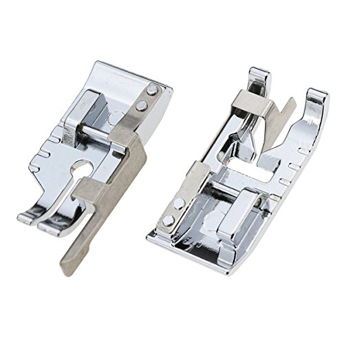 Pack of Stitch in Ditch Foot and 1/4''(Quarter Inch) Quilting Patchwork Sewing Machine Presser Foot with Edge Guide for All Low Shank Snap-On Singer, Brother, Babylock, Euro-Pro, Janome