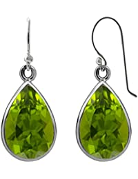 Sterling Silver 3.0 CTW Pear-Shaped Drop Dangle Earrings for Women