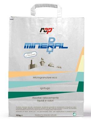 ASSORBENTE GRANULARE MINERAL DRY - KG 10 - Prodotto per l'assorbimento di liquidi ed oli, inodore, atossico, ignifugo e 100% eco-compatibile. RIVOLTA AUTOMOTIVE SRL