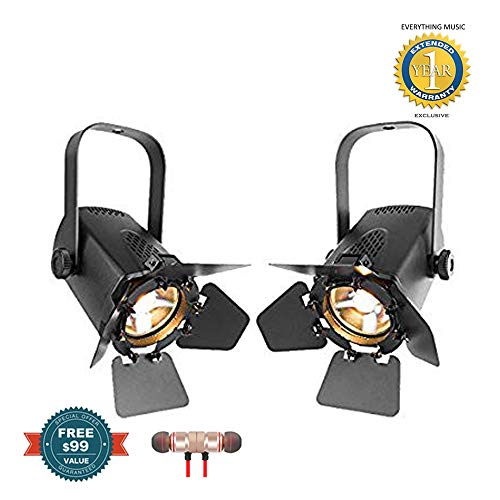 (2 x Chauvet DJ EVE TF-20 EVE Track Fresnel Soft Edge LED Accent Luminaire includes Free Wireless Earbuds - Stereo Bluetooth In-ear and 1 Year Everything Music Extended Warranty)