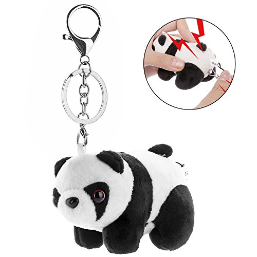 Halcent 130dB Safe Sound Personal Alarm Safety Keychain Mini Panda Safety Alarm SOS Panic Alarm with Location APP for Women Elderly Kids Night Workers