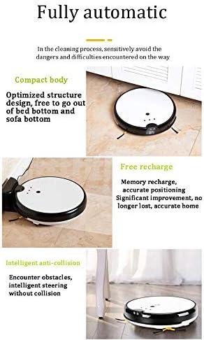 YOLANDE Aspirateur Robot Laveur Balayage Et Lavage Wi-FI Connected Robotic Vacuum App Control Slim Auto-Charge Auto Sweeper pour Pet Hair Carpet Hard Floor