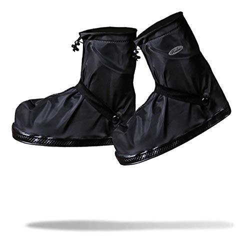 Frelaxy Waterproof Rain Boot Shoe Cover Overshoes Galoshes, Reusable & Foldable Rain Boots with Reflector, Rainproof & Anti-Slip Rain Gear for Cycling Motorcycle Fishing Men Women Kids (1 Pair)