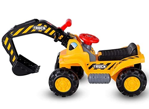 HaSu Kids Toddler Ride On Excavator Digger Truck Scooter from HaSu