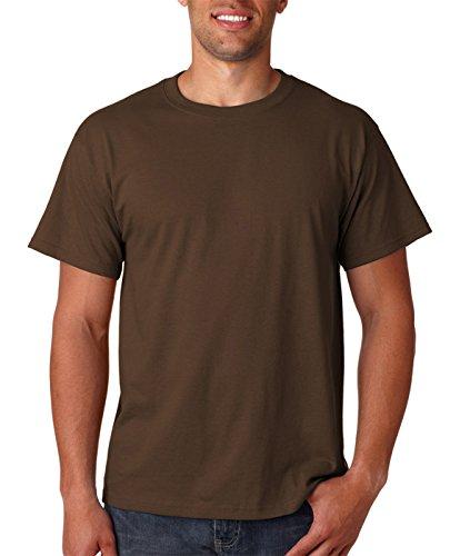 Fruit of the Loom mens 5 oz. 100% Heavy Cotton HD (Chocolate Heavy Cotton T-shirt)