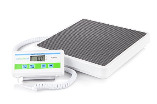 Medical Heavy Weight Floor Scale: Digital Easy Read and High Capacity Health, Fitness and Physician Portable Scale with Battery and AC Adapter - Pound and Kilogram Settings - 550 lb / 249 Kg Limit