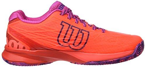 3 Eu Da rose Violet Tennis Scarpe fiery Wilson 40 Donna Wrs323420e065 Coral fiery 1 Red Arancione TwanH6