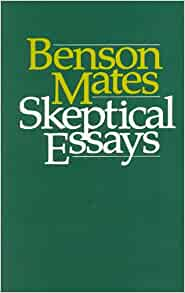 sceptical essays amazon The basic writings of bertrand russell was first published in 1961 although russell very early in the century he wrote an essay, 'on history'.