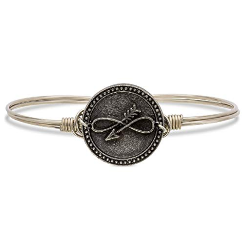 - Luca + Danni Embrace The Journey Bangle Bracelet - Regular/Silver Tone