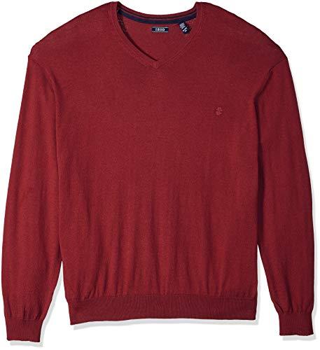IZOD Mens Big and Tall Premium Essentials Fine Gauge Solid V-Neck Sweater