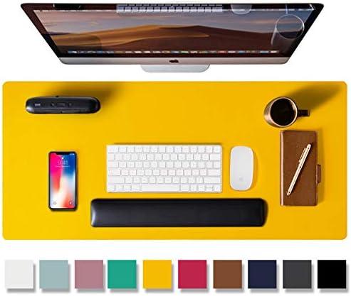 rutschfester PU Leder Schreibtisch Aothia/Leder Pad,Mauspad B/üro Schreibtischmatte wasserdichtes Schreibtisch Schreibpad f/ür B/üro und Zuhause Laptop Schreibtisch Pad 80cm x 40cm,Hellblau