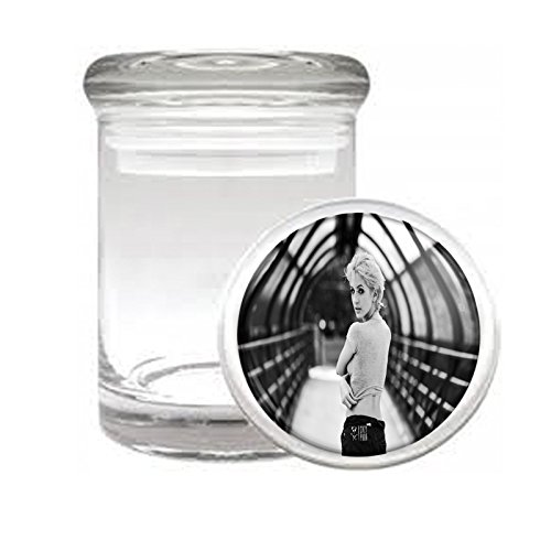 """Medical Glass Stash Jar Bad Girls Pin Up Girl S10 Air Tight Lid 3"""" x 2"""" Small Storage Herbs & Spices"""