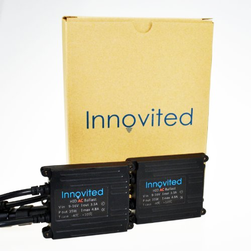 2pcs Innovited 35w Ac Digital Ballast for H1 H3 H4 H7 H10 H11 9005 9006 D2r D2s Universal Fit