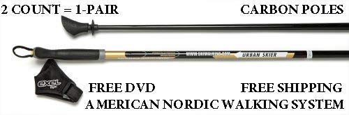 - EXEL Urban Skier Nordic Walking Poles -Don't Get Scammed Twist-Locking Collapsible Poles from China! Durable 1-Piece Poles in 32 Different Lengths in-Stock and Ready to Ship!