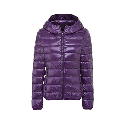 Short Jacket XICHENGSHIDAI Hooded Light Purple Down Weight Women's g4qIT4