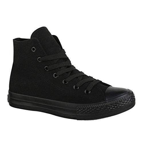 Loisirs Sneakers Chaussures High Chaussures de All de Top Elara Tissu Sport Unisexe Schwarz qv65C