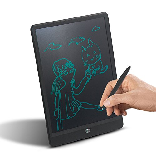 Kids LCD Writing Tablet, 10 Inch Portable Save Electronic Color Graphic eWriter, Handwriting Drawing Board Tablet Pad Note Memo, Office Bulletin Board with Lock & Stylus (Black) by ChalkArt (Image #1)