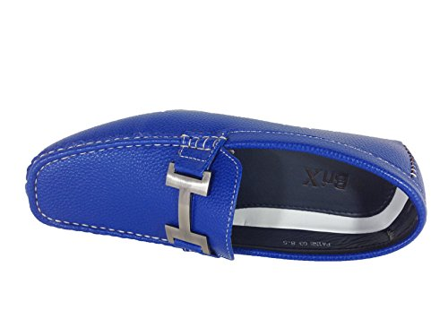 Enzo Romeo Payne03 Mocassini Casual Casual Leggeri Da Guida Slip On Mocassini Blu Royal