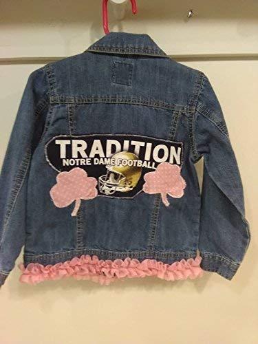 Girls Notre Dame denim jacket Custom made