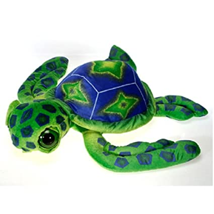 Amazon Com 26 Green Turtle With Big Eyes Plush Stuffed Animal Toy