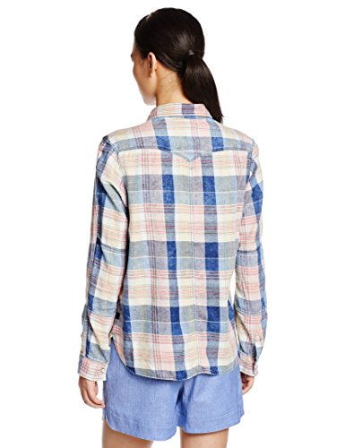 Shirt Check 6401 Tacoma star L Red Donna indigo Multicolore Bf G pompeian Wmn 1pkt Camicia UIq6w