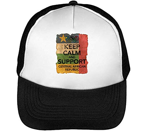 Vintage Calm Support Hombre Beisbol Snapback African Central Keep Gorras Blanco Negro r51qwr4
