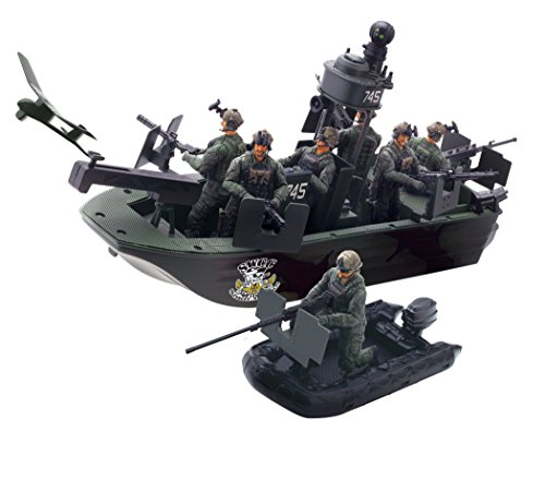 Elite Force Naval Special Warfare Gunboat Vehicle (Military Toy Guns)