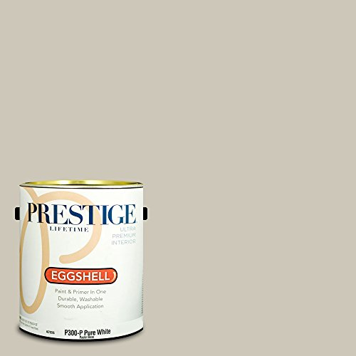 Prestige Paints Interior Paint and Primer In One, 1-Gallon, Eggshell,  Comparable Match of Benjamin Moore Revere Pewter