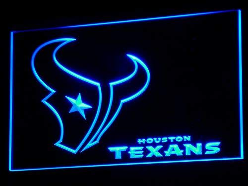 TeroLED Houston Texans 40cm x 30cm Led 3D Engraved Neon Sign Blue