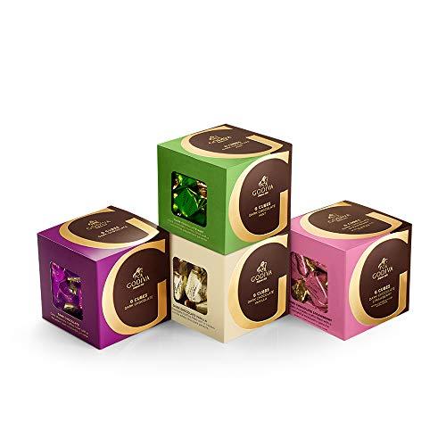 Godiva Chocolatier Dark Chocolate G Cube Sampler, Chocolate Truffles, Great as a Gift, Chocolate Treats, Chocolate Favors, Set of 4