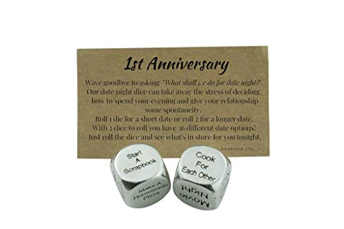 1 Year Anniversary Metal Date Night Dice - Create a Unique 1st Anniversary Date Night