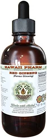 Red Ginseng Alcohol-Free Liquid Extract, Organic Red Ginseng (Panax Ginseng) Dried Root Glycerite 2 oz