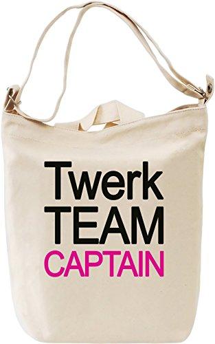 Slogan Twerk Giornaliera 100 captain Canvas Day Team Printing Canvas DTG Borsa Bag Canvas Cotton Premium T4xEqgrc4w