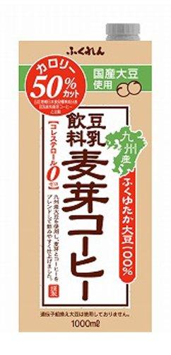 1000mlX6 this soy milk drink malt coffee Fukuren by Fukuren