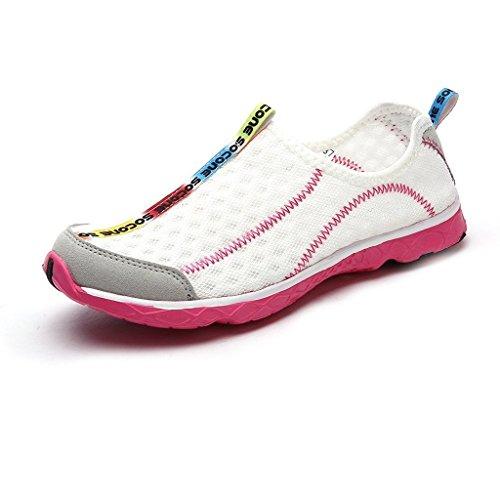 de Aguamarina Playa mujer de de Surf Oriskey de para deporte Aqua Zapatos Blanco Zapatillas deportivas Agua de FWZW85Bqw
