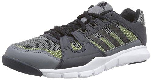 adidas Gym Warrior - Zapatillas Hombre Gris (vista grey s15/core black/semi solar yellow)